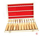 td indust 12 Pc Wood Carving Woodworking Chisel Set Hand Tool