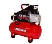 Craftsman 3 gal. Air Compressor, 1.5 hp, Horizontal k