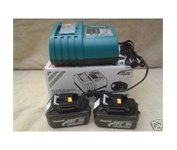 Makita 2 Bl1830 18v Battery,dc18ra Charger Lxt Fr Drill